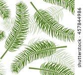 vintage seamless palm leaf... | Shutterstock .eps vector #457844986