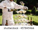 catering service. wedding slide ... | Shutterstock . vector #457845466