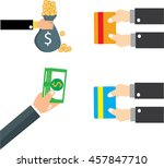 concept for crowdfunding  hand... | Shutterstock .eps vector #457847710