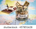 travel budget concept. travel... | Shutterstock . vector #457851628