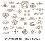 ornamental design elements ... | Shutterstock .eps vector #457856428