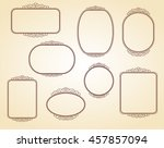 set frames .vintage vector.well ... | Shutterstock .eps vector #457857094