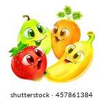 funny cartoon fruit | Shutterstock .eps vector #457861384