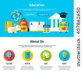 education flat web design...   Shutterstock .eps vector #457862650
