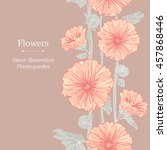 seamless floral pattern with...   Shutterstock .eps vector #457868446