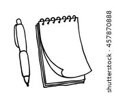 note pad and pen icons.... | Shutterstock .eps vector #457870888