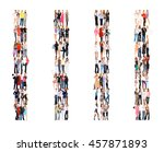 together we stand many... | Shutterstock . vector #457871893