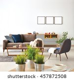 modern living room sofa and... | Shutterstock . vector #457872508