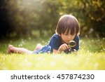 beautiful happy child  boy ... | Shutterstock . vector #457874230