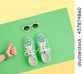fashion woman accessories set.... | Shutterstock . vector #457874860