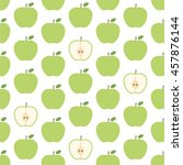 green apple seamless pattern on ... | Shutterstock .eps vector #457876144