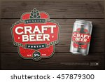 Modern professional label logo design template for a craft beer | Shutterstock vector #457879300