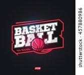 modern professional basketball...   Shutterstock .eps vector #457880986