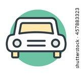 car colored vector icon | Shutterstock .eps vector #457883323