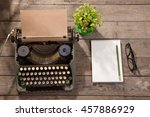 Vintage Typewriter On The Old...
