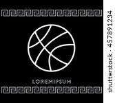 web line icon. basketball | Shutterstock .eps vector #457891234