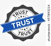 trust stamp vector over a white ... | Shutterstock .eps vector #457893214