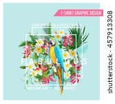 floral graphic design  ... | Shutterstock .eps vector #457913308
