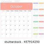 color calendar planner for 2017 ... | Shutterstock .eps vector #457914250