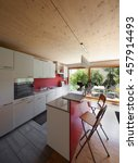 interior of an eco house ... | Shutterstock . vector #457914493