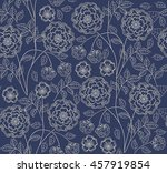 seamless floral pattern in... | Shutterstock .eps vector #457919854