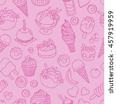 set of different sweets.... | Shutterstock .eps vector #457919959