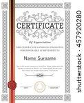 premium certificate template... | Shutterstock .eps vector #457920280