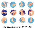 oblique fracture of human bones ...   Shutterstock .eps vector #457923580