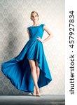 fashion portrait of a beautiful ... | Shutterstock . vector #457927834