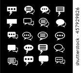 speech bubble set illustration... | Shutterstock .eps vector #457929826