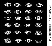 eye icon set illustration design | Shutterstock .eps vector #457929829