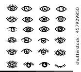 eye icon set illustration design | Shutterstock .eps vector #457929850