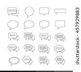 speech bubble set illustration...   Shutterstock .eps vector #457929883