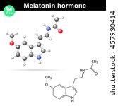 melatonin hormone molecule ... | Shutterstock .eps vector #457930414