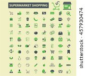 supermarket shopping icons | Shutterstock .eps vector #457930474