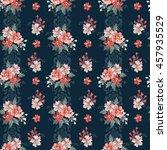 seamless vintage flower pattern  | Shutterstock .eps vector #457935529