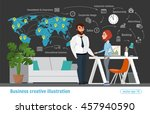 business creative illustration. ... | Shutterstock .eps vector #457940590