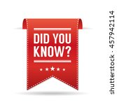 did you know  | Shutterstock .eps vector #457942114