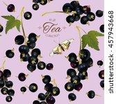 vector black currant tea...   Shutterstock .eps vector #457943668
