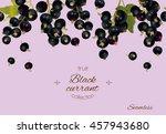 vector black currant seamless...   Shutterstock .eps vector #457943680
