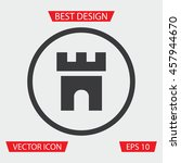 fortress icon   vector sign for ...   Shutterstock .eps vector #457944670