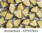 pineapple slice popsicles on a... | Shutterstock . vector #457947814