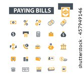 paying bills icons | Shutterstock .eps vector #457949146
