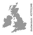 map of british islands | Shutterstock .eps vector #457951348