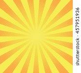 retro rays comic yellow... | Shutterstock .eps vector #457951936