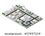 perspective panorama of the... | Shutterstock .eps vector #457957219
