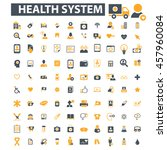 health system icons | Shutterstock .eps vector #457960084
