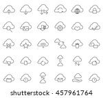 cloud outline icon set sign... | Shutterstock .eps vector #457961764