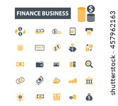 finance business icons | Shutterstock .eps vector #457962163