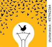 creative idea for freedom. | Shutterstock .eps vector #457962364
